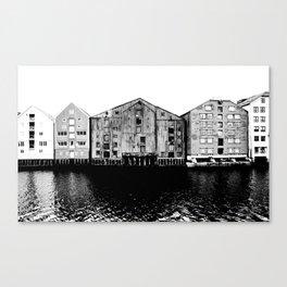 trondheim houses  Canvas Print