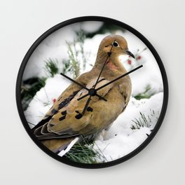 Holiday Dove Wall Clock