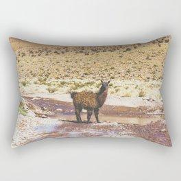 Llama Crossing in Bolivia Rectangular Pillow