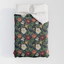 Garden Nasturtium pattern Duvet Cover