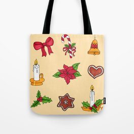 Christmas pattern (#2 yellow) Tote Bag