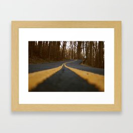 Double Yellow Lines Framed Art Print