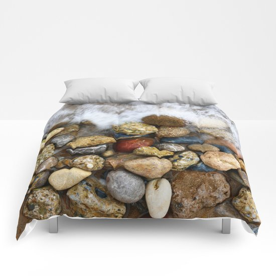 Stones at the beach Comforters