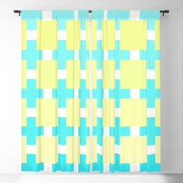 A mosaic in pastel blue and beige color Blackout Curtain