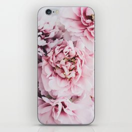 Pink Blush Peonies iPhone Skin