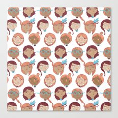 Pattern Project #22 / Girl Gang Canvas Print