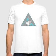 polar bear MEDIUM Mens Fitted Tee White