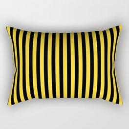 Yellow and Black Honey Bee Vertical Deck Chair Stripes Rectangular Pillow
