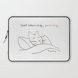 Not Snoring, Purring. Laptop Sleeve