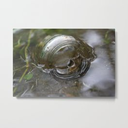 Glass in the Water Metal Print