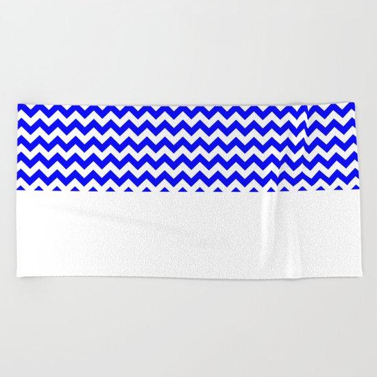Chevron (Blue/White) Beach Towel
