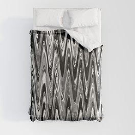 Zigzag Black and White Comforters
