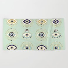 Evil Eye Collection Beach Towel