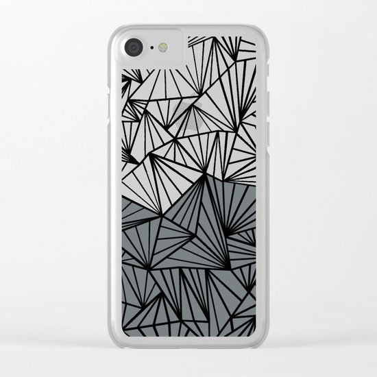 Ab Fan Grey and Black Clear iPhone Case