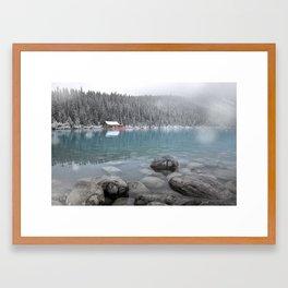 First Snow, Lake Louise Framed Art Print