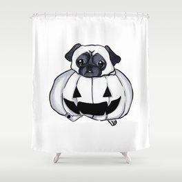 Pug-kin Shower Curtain