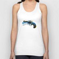 gun Tank Tops featuring gun by mark ashkenazi