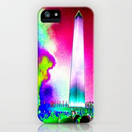Catharsis on the Mall - 2017 - Magenta Sky iPhone Case