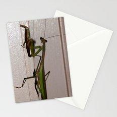 Mantis pose Stationery Cards