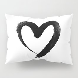 Ink Heart Minimal Fashion Stylish Pillow Sham