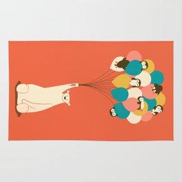 Penguin Bouquet Rug