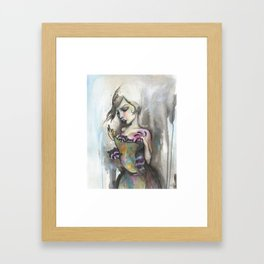 sweater kittens Framed Art Print