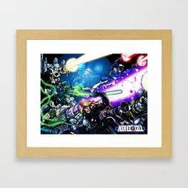 Hired Kill: Group Poster Framed Art Print