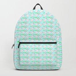 White hen on blue sky Backpack
