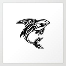 Orca Tribal Tattoo Design Art Print