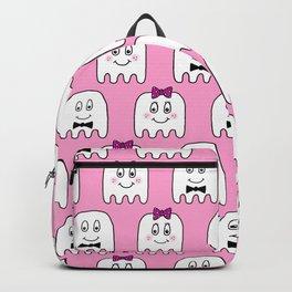 Cute Ghosts in Pink Backpack