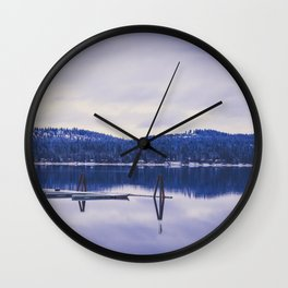 Lake Cascade Wall Clock