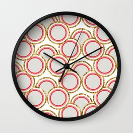 Petite Glitter circles collection Wall Clock