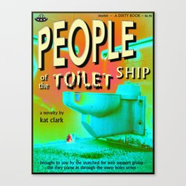 people of the toilet ship Canvas Print