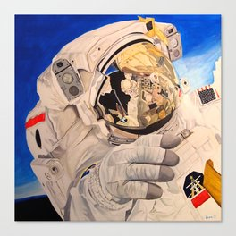 Astronaut in space, man. Canvas Print