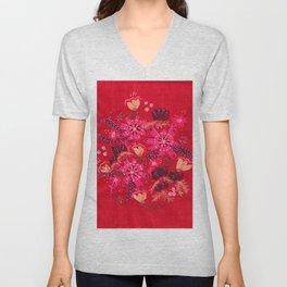 Cranberry Rose Unisex V-Neck