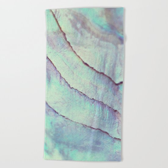 IRIDISCENT SEASHELL MINT by Monika Strigel Beach Towel