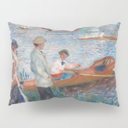 Oarsmen at Chatou Painting by Auguste Renoir Pillow Sham