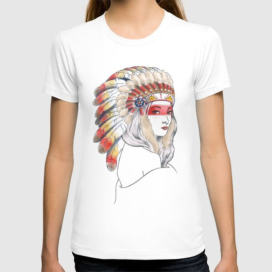 Girl with Native American War Bonnet by irennetj