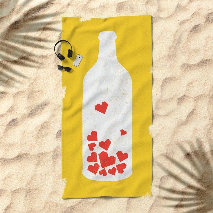 Message in a bottle Beach Towel