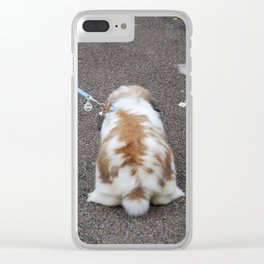 Bunny out for a walk Clear iPhone Case