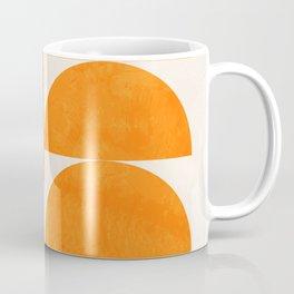 Geometric Shapes orange mid century Coffee Mug