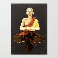 aang Canvas Prints featuring Aang by luvami