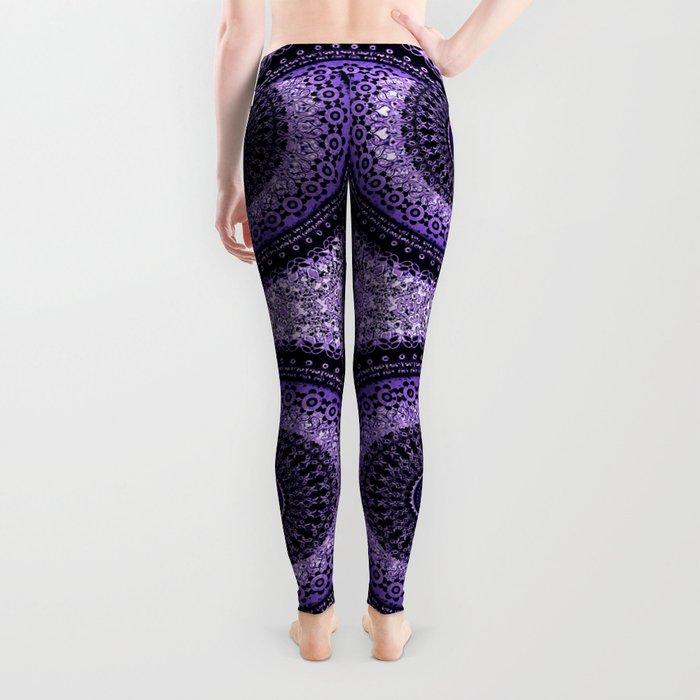 Purple Tapestry Mandala Leggings