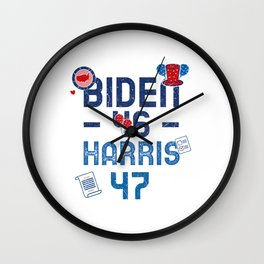 Biden 46 Elected president - Harris 47 Wall Clock