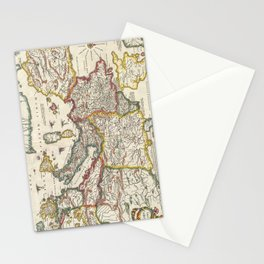 Vintage Map of Europe (1657) Stationery Cards