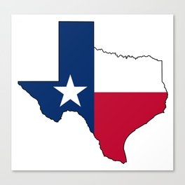 Texas Flag Canvas Print