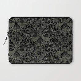 Stegosaurus Lace - Black / Grey - Laptop Sleeve