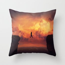 crossing the chasm Throw Pillow