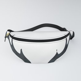 Antlers Black and White Fanny Pack