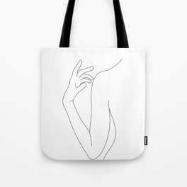 Line drawing figure illustration - Elsie Tote Bag